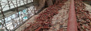 07 – Inizio demolizione della copertura – Novembre 2017
